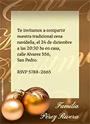 Invitaciones de Navidad para imprimir. Adornos festivos