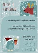 Invitaciones de navidad para imprimir. Fiestas felices