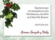 Invitaciones de Navidad para imprimir. Hojas de muérdago