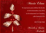 Invitaciones de Navidad para imprimir. Muérdago dorado