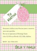 Invitaciones de Pascuas para imprimir. Huevito de Pascuas