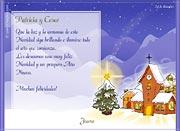 Tarjetas de navidad para imprimir. Pueblo nevado