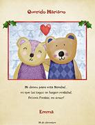 Tarjetas de navidad para imprimir. Amor navideño