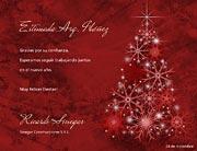 Tarjetas de navidad para imprimir. Arbol de cristal