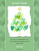 Tarjetas de navidad para imprimir. Arbol de corazones