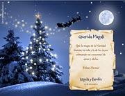 Tarjetas de navidad para imprimir. Noche mágica