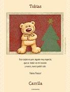 Tarjetas de navidad para imprimir. Osito