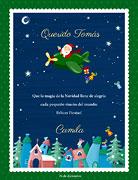 Tarjetas de navidad para imprimir. Vuelo mágico