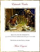 Tarjetas de navidad para imprimir. Bendiciones