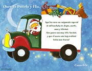 Tarjetas de navidad para imprimir. Cargamento de alegría