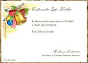 Tarjetas de Navidad para imprimir. Campanas de Paz