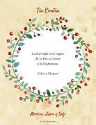 Tarjetas de navidad para imprimir. Corona de muérdago