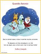 Tarjetas de navidad para imprimir. Alegría en la nieve