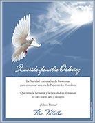 Tarjetas de navidad para imprimir. Esperanza de Paz