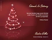 Tarjetas de navidad para imprimir. Luz navideña
