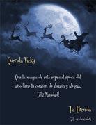 Tarjetas de Navidad para imprimir. Magia navideña