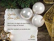 Tarjetas de navidad para imprimir. Carta de Navidad