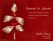 Tarjetas empresariales de navidad para imprimir. Muérdago