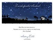 Tarjetas de navidad para imprimir. Noche de Belén