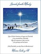 Tarjetas de navidad para imprimir. Noche de Paz