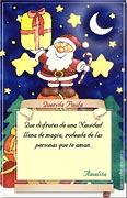 Tarjetas de navidad para imprimir. Papá Noel