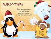 Tarjetas de navidad para imprimir. Te deseamos felicidad