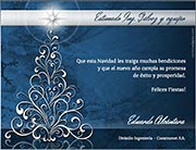 Tarjetas empresariales de navidad para imprimir. Pino plateado