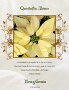 Tarjetas de navidad para imprimir. Flor navideña
