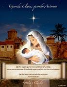Tarjetas de navidad para imprimir. El regalo de Dios