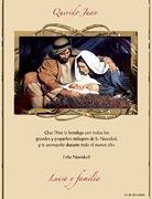 Tarjetas de navidad para imprimir. La Sagrada Familia