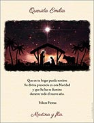 Tarjetas empresariales de navidad para imprimir. Natividad
