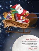 Tarjetas de navidad para imprimir. Trineo mágico