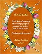 Tarjetas de cumpleaños para imprimir. Flores de Pascuas