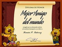 Tarjeta de Día del amigo personalizable. Diploma al mejor amigo, Miniposter