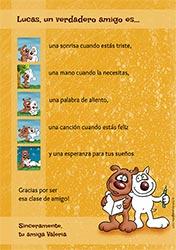 Tarjeta de Día del amigo personalizable. Un verdadero amigo, Miniposter