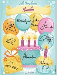 Miniposter de cumpleaños para imprimir. Pastel