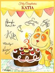 Tarjetas de cumpleaños para imprimir. Para el bebé, de todos nosotros