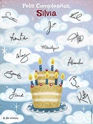 Tarjetas de cumpleaños para imprimir. Con nuestros mejores deseos