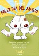 Tarjeta de Día del amigo personalizable. Feliz Día del Amigo!,