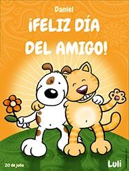 Tarjeta de Día del amigo personalizable. Feliz Día del Amigo!, Miniposter