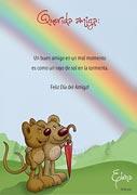 Tarjeta de Día del amigo personalizable. Arco iris,