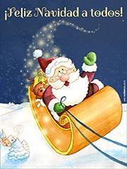 Tarjetas de Navidad para imprimir. Ilusi�n navide�a