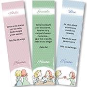 Tarjeta de Día del amigo personalizable. Amigas, 3 señaladores para regalar