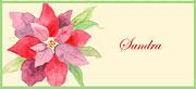 Señalador para imprimir de Dia del Padre. Flor navideña