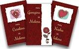 Tarjetas de navidad para imprimir. Corazones y flores