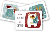 Tarjetas para regalos de navidad para imprimir. Felices Fiestas