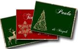 Tarjetas de Navidad para imprimir. Navidad cl�sica