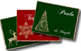 Tarjetas de navidad para imprimir. Navidad dorada