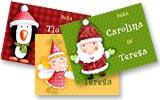 Tarjetitas para tus regalos. Personajes navideños