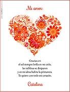 Tarjetas de navidad para imprimir. Primavera en el corazón
